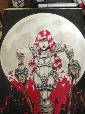 Red Sonja by wastedfrank