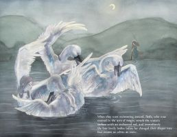The Transformation of the Children of Lir by Bluevampress