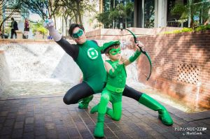 The Green Duo (Green Lantern, Green Arrow) by ComicChic19
