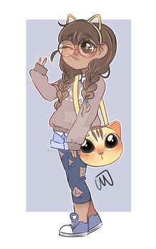 CAT PERSON Adopt -OPEN- (PAYPAL AND POINTS) by Celiicmon