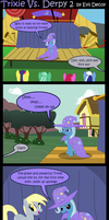 Trixie Vs. Derpy 2 by Evil-DeC0Y