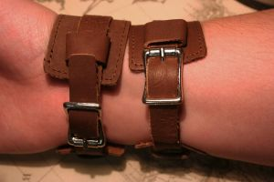 Brown Leather Cuff Connection by turnerstokens