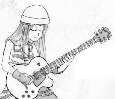 Guitarist Girl by thenubi