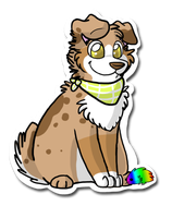 Dog and Roofy Sticker thing by Splotch-the-Mutt