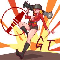 Tf2 Female Soldier by gotwin9008