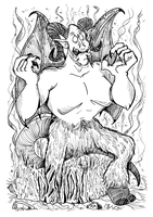 Monster a Day Art Challenge: 13. Demon by Granitoons