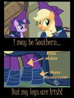 Applejack is Southern Irish by Babileilei