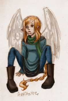 .:avrianthe with a cold:. by froggymcgee