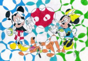 Mickey,Pluto And Minnie Disney by filipeoliveira