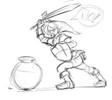 Link Says no to Pot by bishounenizer