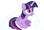 Princess Twilight Sitting On A Cloud by TheShadowStone
