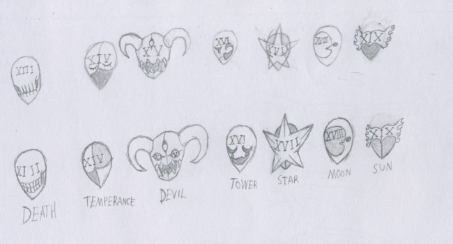 Arcana Masks 13-19 by DARKLORD98