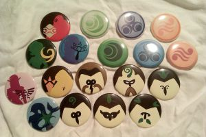 Misc Zelda Button Set by IamSare