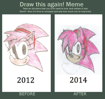 Classic Amy Rose (Before and After) by Sonicdude645