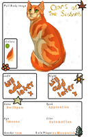 Swiftpaw of AutumnClan by TheMoonfall