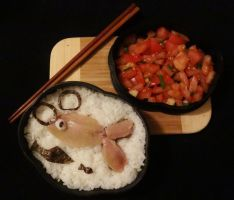 A fishy bento by shinjuco
