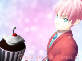 :MMD APH: Cupcake by AskMMDRomano