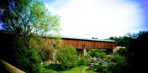 Knights Ferry covered bridge by blakelemmons