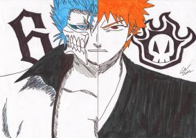 ichigo and grimmjow by Zimmander