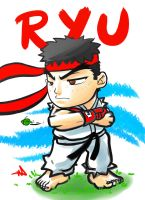 Ryu Final Chibi by WayneAlright
