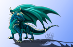 Blue Dragon by DemiSaurusRex