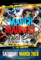 March Madness Aries Bash Flyer Template by AnotherBcreation
