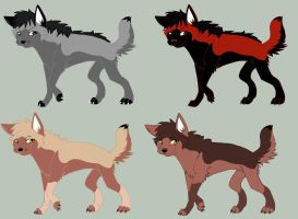 Wolf Adoptables 2 by Wolf-Tracks