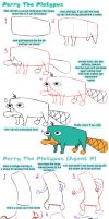 Perry the platypus tutorial by Petziey