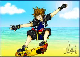Skating Sora by izzycool91