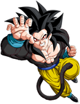 My own Goku SSJ4 by Teoma-The-Naraotor