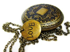 Handmade Locket Necklace by pila12903