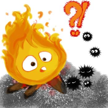 Calcifer Surprise (i'm a dad???) by angieprs13