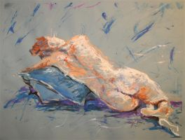Painting: The Recline by bellabrooke