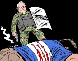 Coup leader Roberto Micheletti by Latuff2