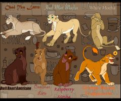 Coffee Inspired Lionesses! (FREE!) by LanieJ