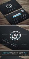 Minimal Business Card 016 by khaledzz9