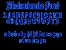 Skelanimals Font by xXxDiamondxXx