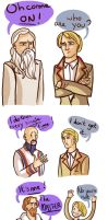 The fifth doctor and the master by pinkwater1211