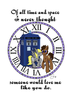 Derpy x Doctor Whooves tshirt design by Th3Stargazer