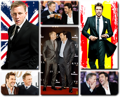 Javier Bardem and Daniel Craig by DartsOFFPleasure