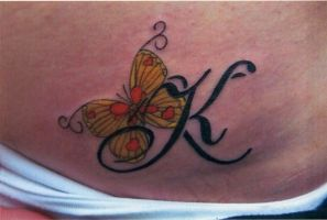 butterfly tattoo by campfens