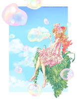 Pink Bubbles in the Sky by greyeille