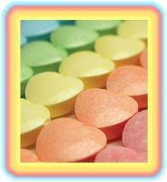 Candy hearts rainbow by NY2holly