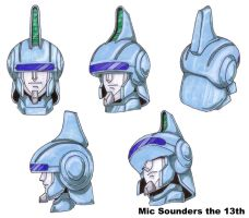 Mic Sounders head in color by FirebirdTomonaga