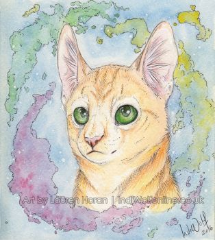 Watercolour Kitty by IndiWolfOnline