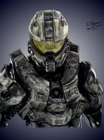Halo 4 Master Chief Drawing by LethalChris