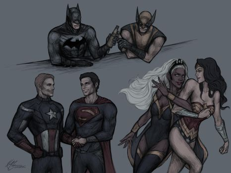 Marvel/DC duos by jasric