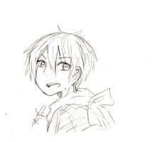 Quick doodle of Yato (from Noragami) by redhotcinnamontwist