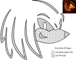 Knux Jack-O-Lantern stencil by Rally-the-Cheetah