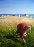 """The Berry Picker, Greenspond"" by HeatherHorton"